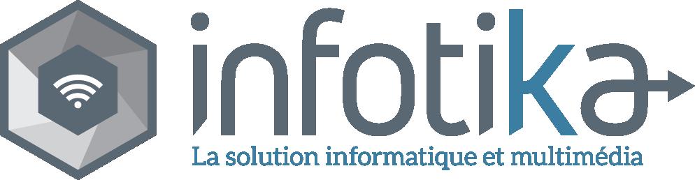 Logo Infotika et slogan